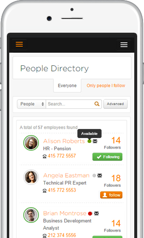 mobile people directory